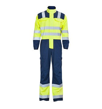 Hi Vis Flame Retardant Chemical Splash Road Coverall